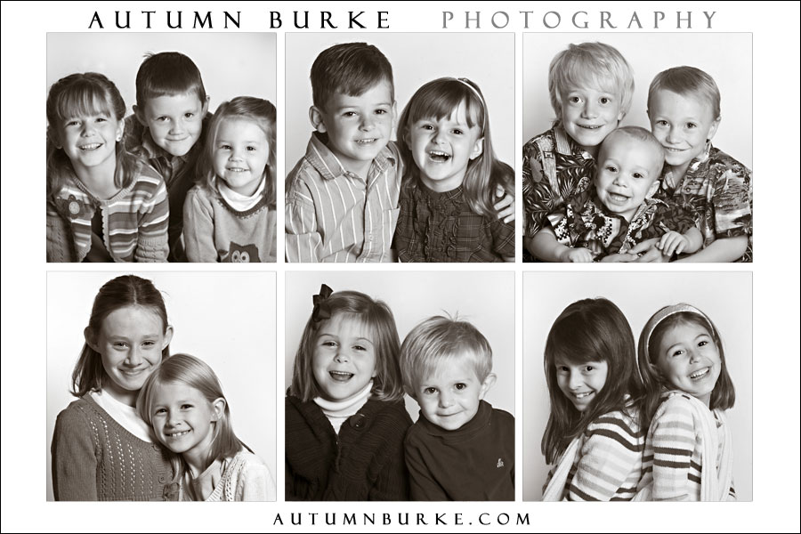 collage of kids portraits