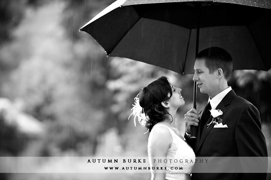 colorado rainy wedding