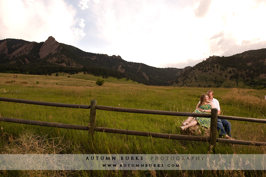 boulder flatirons engagement session