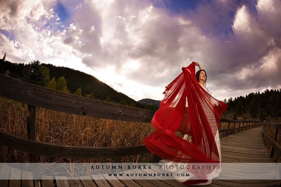 colorado bridal trash the dress portrait