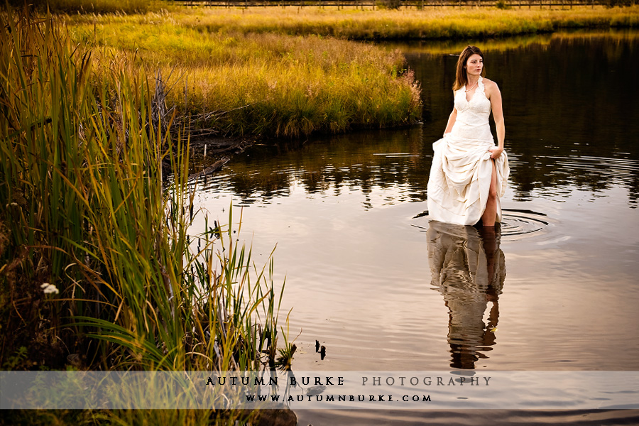 bridal trash the dress reflection